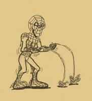 SKETCH BONUS SPIDERMAN AT 2099 by Luber-Lord