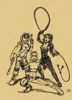 SKETCH JAM  DANGER GIRLS by Luber-Lord