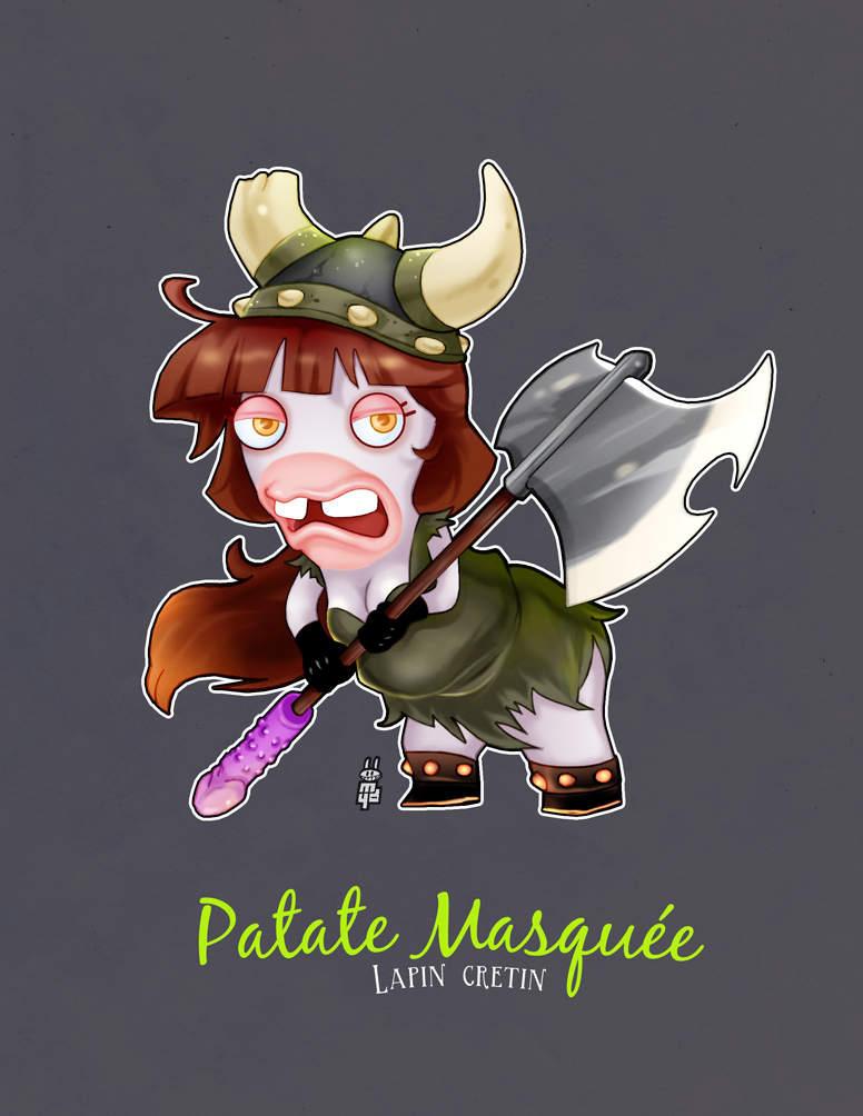 Lapin Cretin - Patate Masquee by Mydole