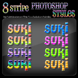 8 Stripe Photoshop Styles by Suki95