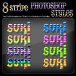 8 Stripe Photoshop Styles
