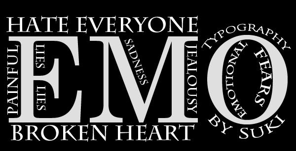 Emo Typography by Suki95