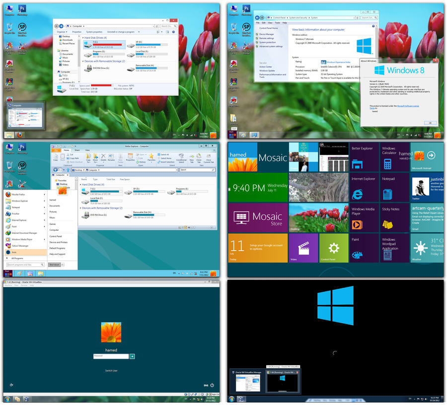 Windows 8 Theme for windows 7 and XP Skin Pack by atranaz