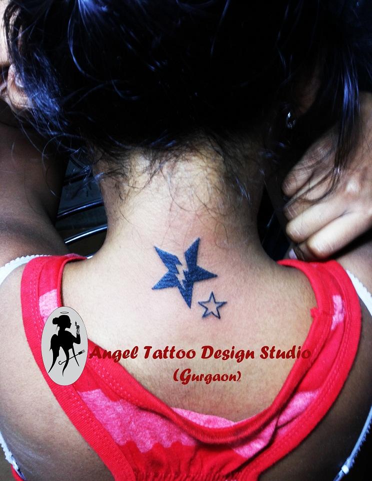 Thunder star tattoo design by angel tattoo studio on for Studio 7 tattoo