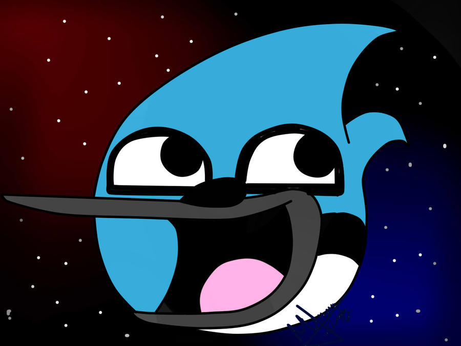Mordecai Awesome Face by FanChaosLevel3