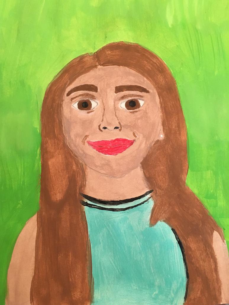Art Class Online Self Portrait by mirpacheco