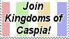 Join Kingdoms of Caspia Stamp by TurquoiseWolfStar7