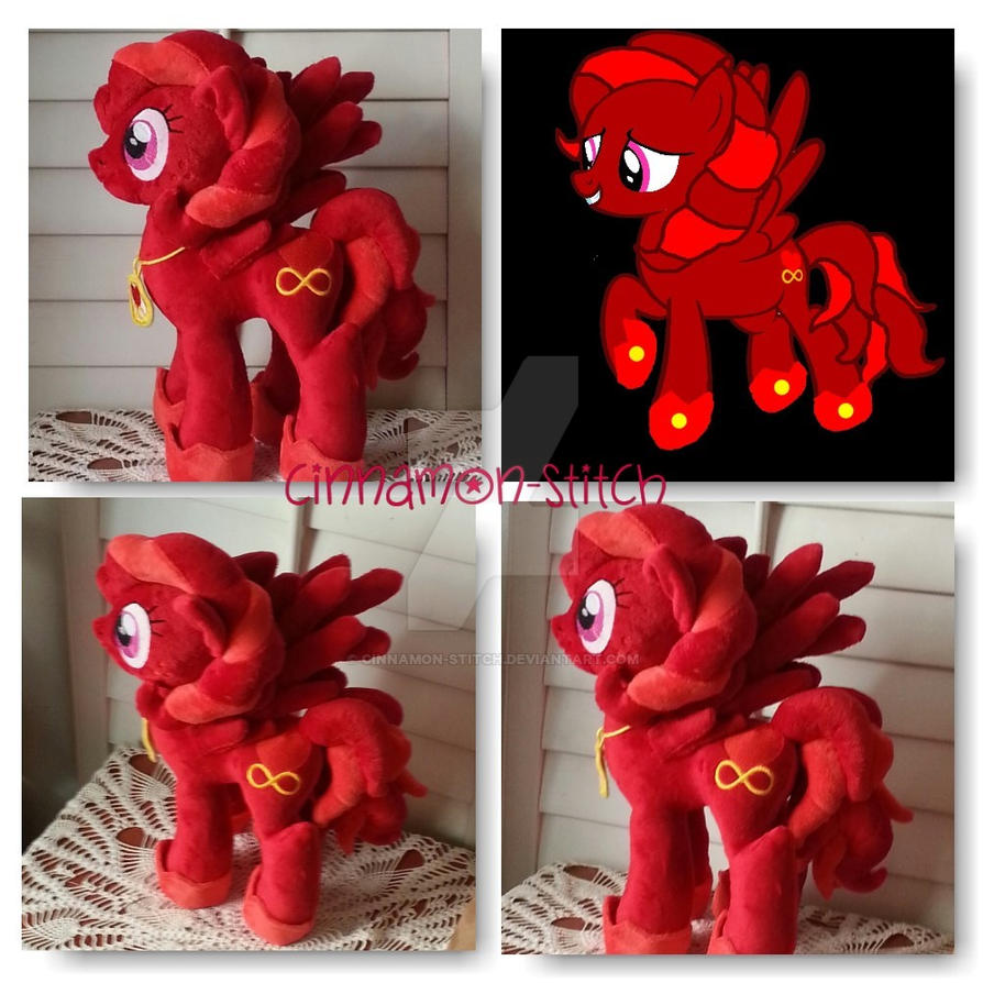 My Little Pony Commission Lovinity Hearts Plush by CINNAMON-STITCH