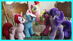 My little Pony Plushie Commissions Family Pic