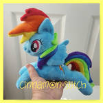 mlp plushie Rainbowdash Beanie available now