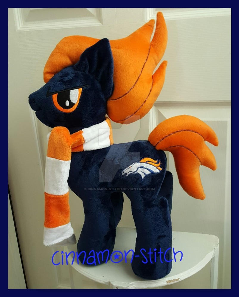 Mlp Plushie Denver Bronco Football Special By Cinnamon