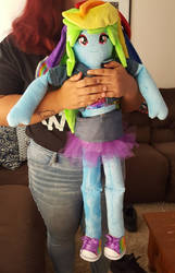 mlp plushie Equestria Girl Doll Rainbow Size