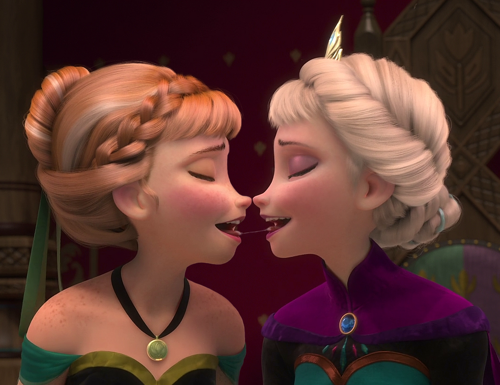 Be Together Frozen Elsa and Anna Elsanna Intimate Sisters SuperGirl Elsa 259 Frozen Elsa Kissed Anna  Frozen Anna Slapped Elsa  Epic Slap  Epic Sister Kiss  CheekSpear Animations