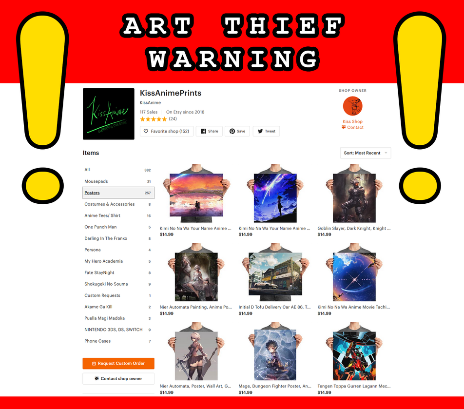 ART THIEF WARNING! by Fire-wing-96