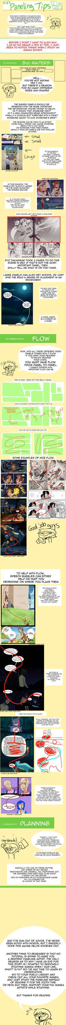 Paneling a Comic Tips