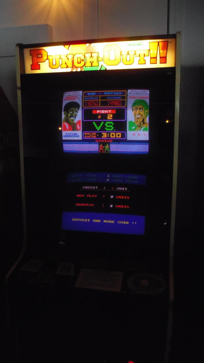 Wii U Arcade Machine : The punch out arcade machine by shnoogums on deviantart