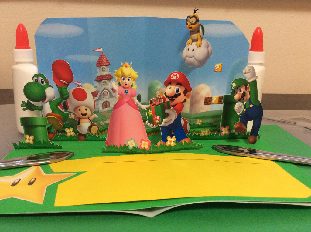 Super mario pop up birthday card by pavelg1 on deviantart super mario pop up birthday card by pavelg1 bookmarktalkfo Image collections