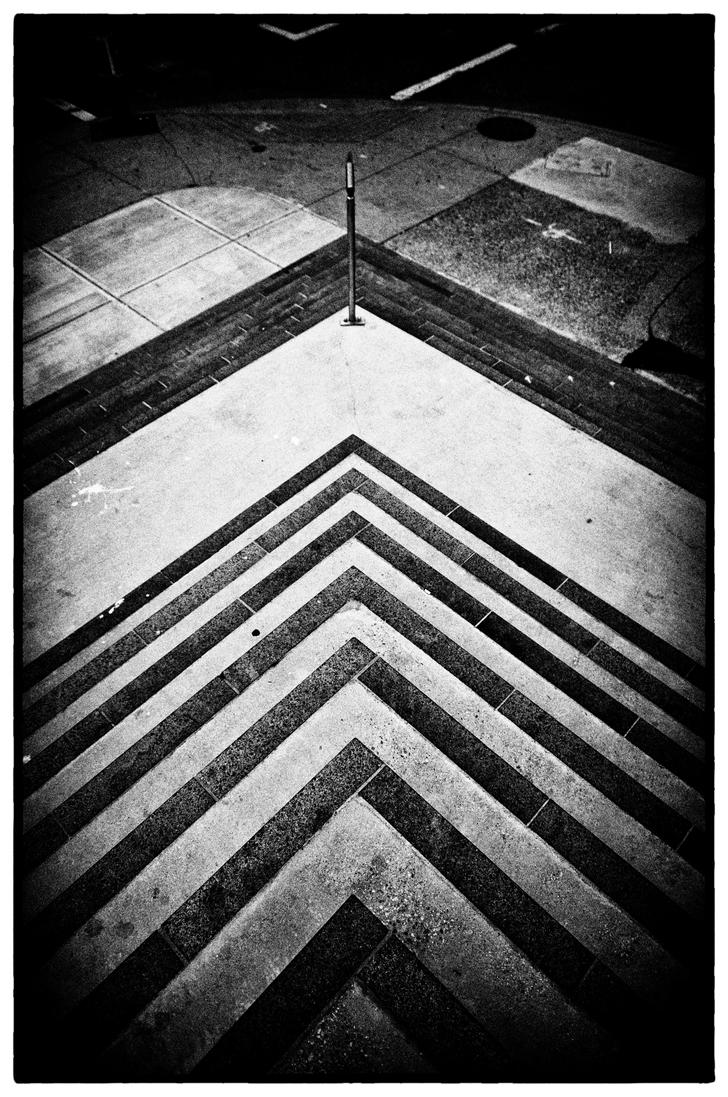 Geometric street figure by CropPhotography