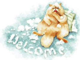 Persian Cat Welcome by IngridTan