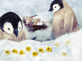 Penguin Welcome by IngridTan