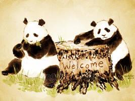 Panda Welcome by IngridTan