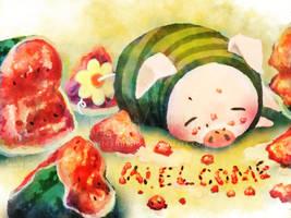 Pugi Welcome by IngridTan