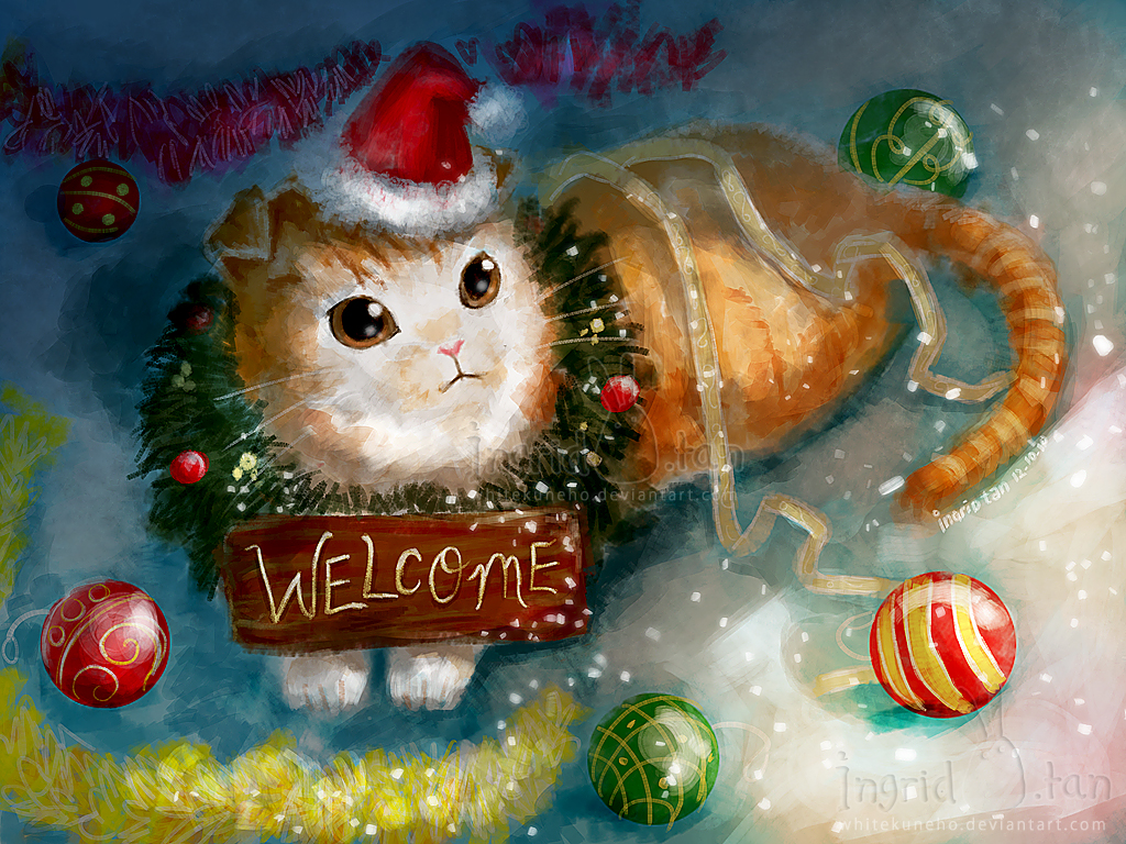 Scottish Fold Welcome by IngridTan