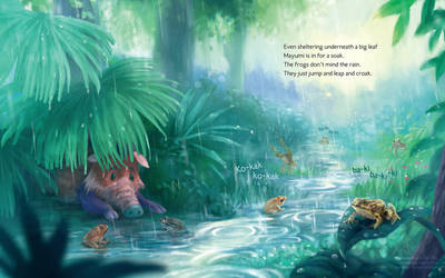 Mayumi the Forest Pig [Sample Spread]