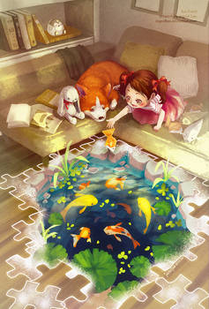Puzzles of Imagination: Koi Pond
