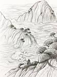 Inktober 2017: Day 2 - River