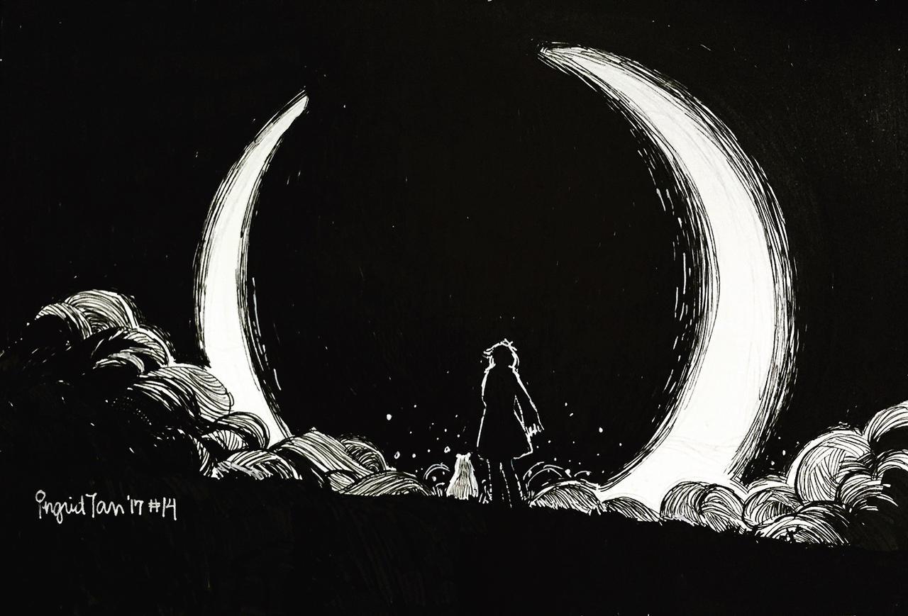 Inktober 2017 Day 14: Eclipse