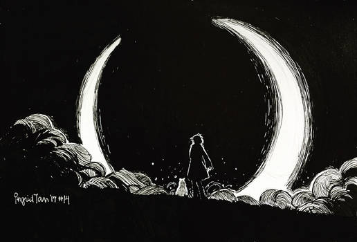Inktober 2017 Day 14: Eclipse