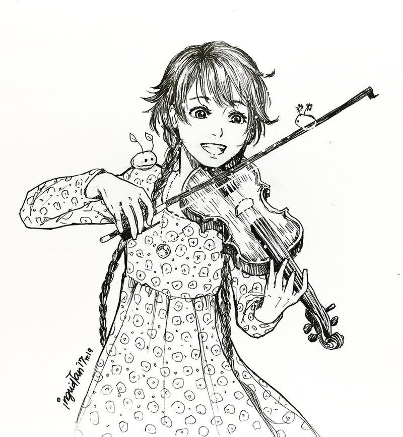 Inktober 2017 Day:19 - Violin by IngridTan