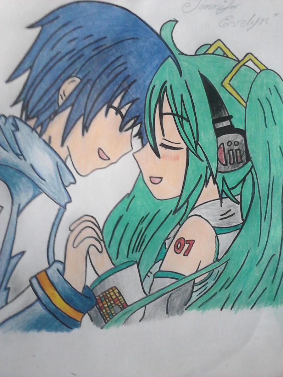 Miku y Kaito by J-nny-01