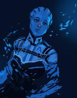 Mass Effect: Liara by jazzmire
