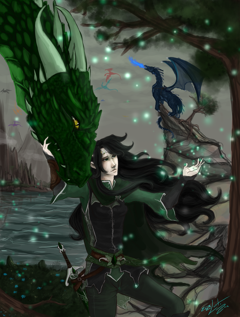 Firnen From Eragon Inheritance: arya and firnen