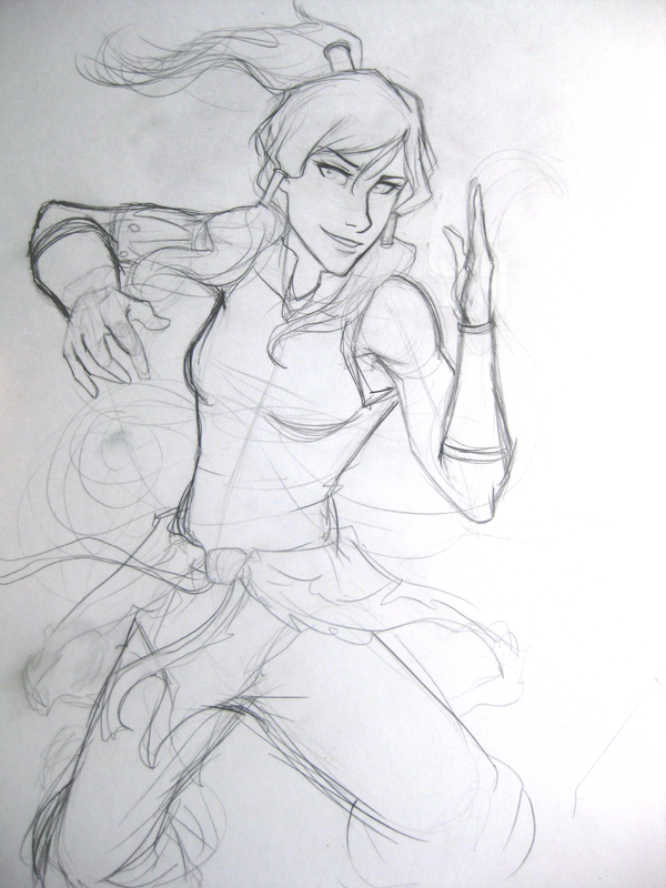 Legend of Korra WIP Sketch by ElizaLento