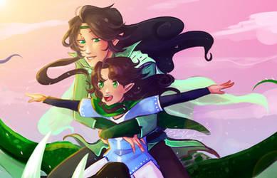 Arya and Flora: Memories by ElizaLento