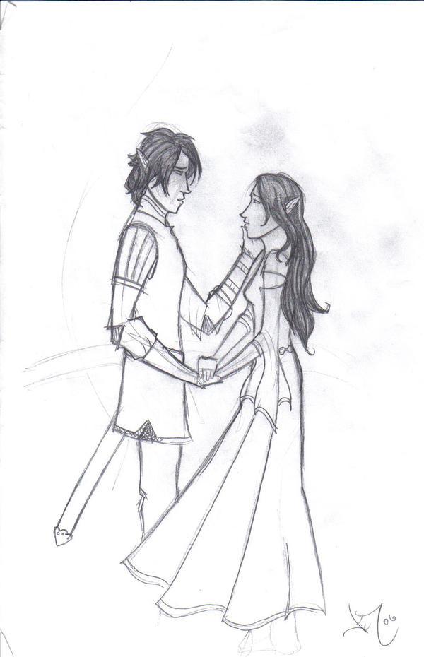 Eragon and Arya by ElizaLento Eragon And Arya Drawings