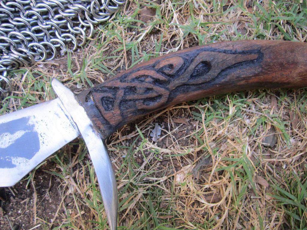 Elven sword handle by castlegardener