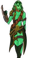 - Female Drell Bounty Hunter -