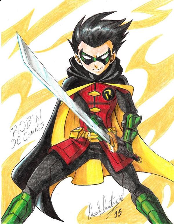 Dc Fan Art : Robin dc comics fan art by ravernclouk on deviantart