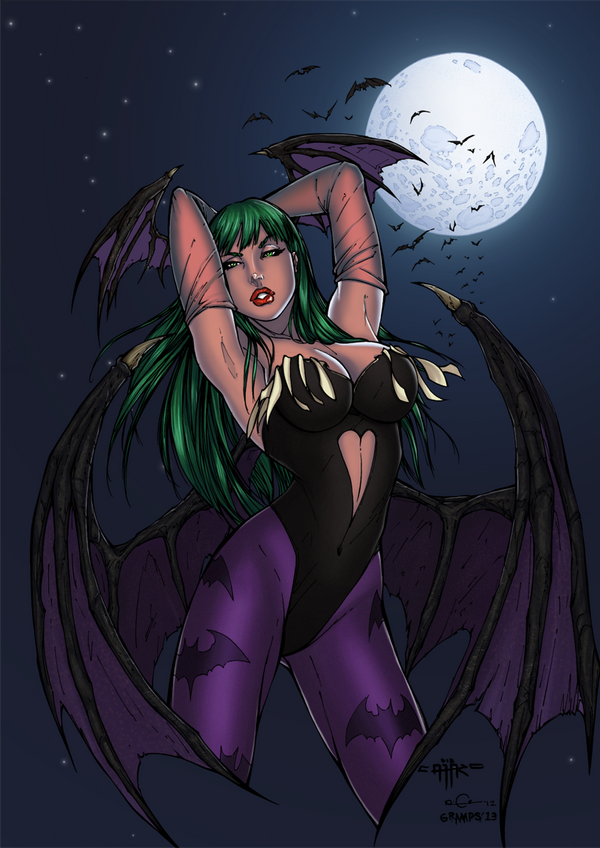 Morrigan Aensland by grampsart