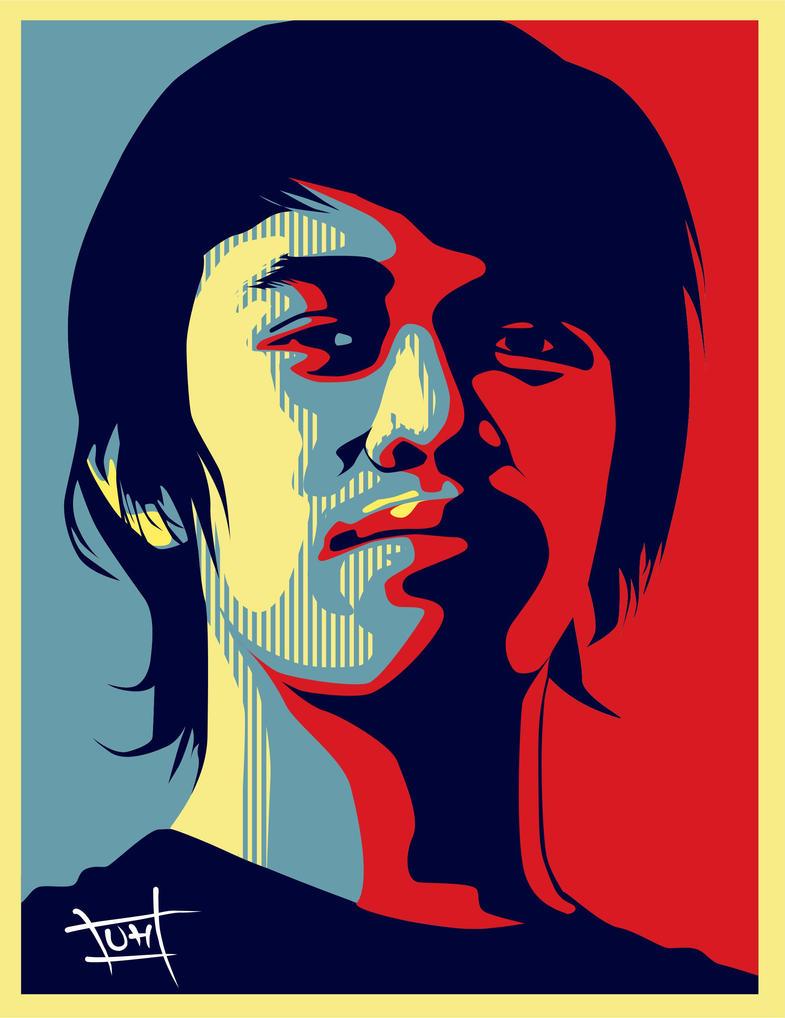 poster obama style by ullahahn on deviantart