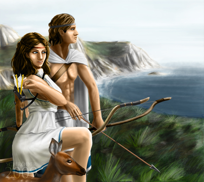 Artemis and Apollo 2 by FedeSchroe on DeviantArt