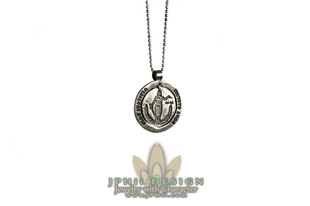 Roman Law Necklace by jphiijewelry