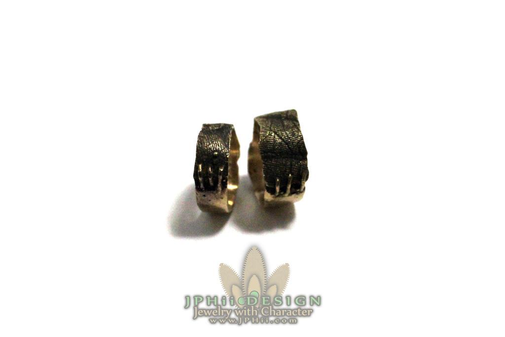 Gold Frankenstein Flesh Rings Wedding Bands by jphiijewelry