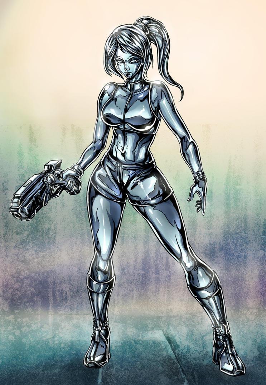 Metal Zero Suit Samus by ric3do