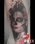 La Catrina Trash Style tattoo
