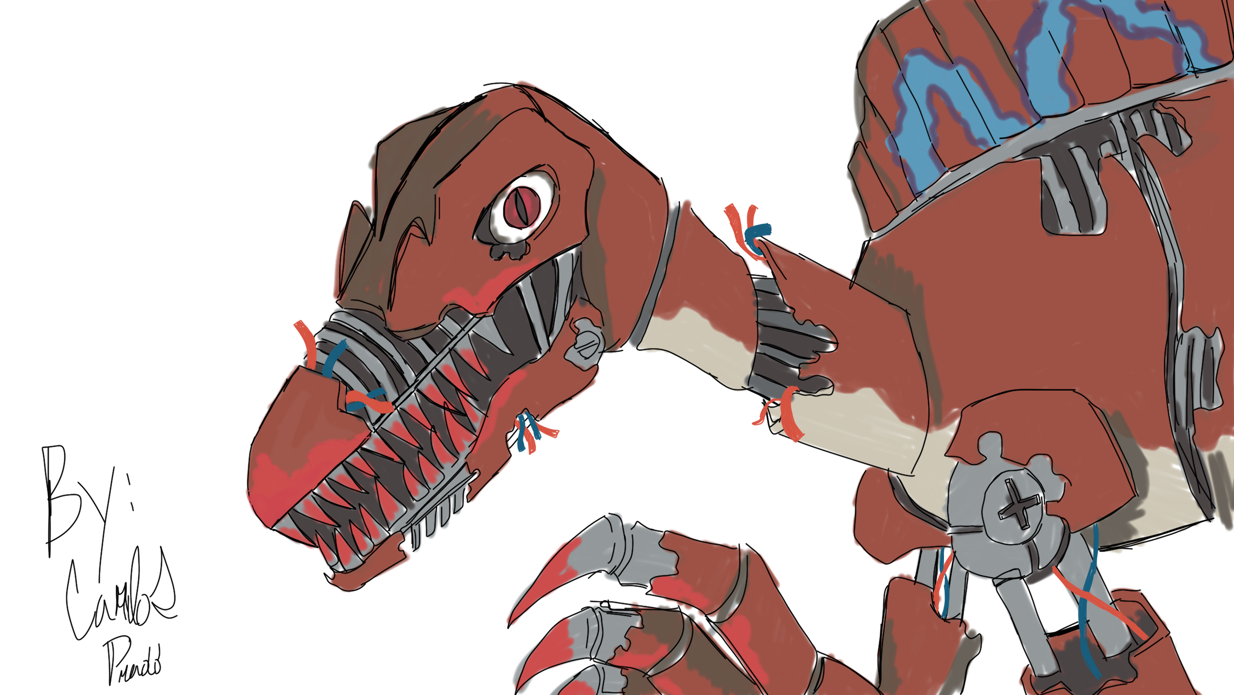 Animatronic Spinosaurus by futurezoologist on DeviantArt
